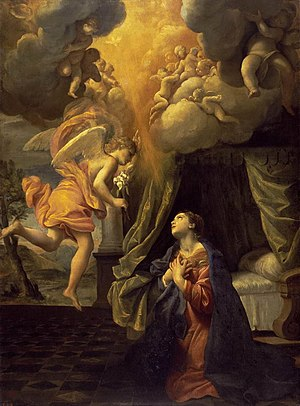 Giovanni Lanfranco - Annunciation, between 1610 and 1630 (Hermitage Museum)