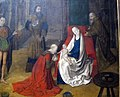 Giusto di gand, adorazione dei magi, 1465 ca., 2.JPG