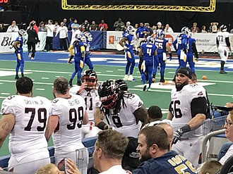 2017 Cleveland Gladiators season - The Gladiators playing the Tampa Bay Storm on April 22