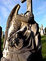 Glasgow. St Kentigern's Cemetery. Grave of Rinaldi family. Statue of angel (plik).jpg