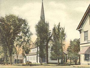 Canaan, New Hampshire - Image: Glimpse of Church Street, Canaan, NH