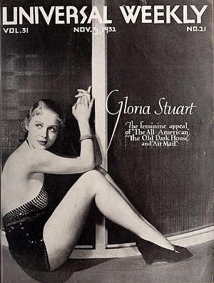 Gloria Stuart - Stuart on the cover of Universal Weekly, November 1932.