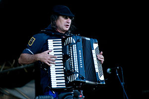 Gogol Bordello - Yuri Lemeshev in 2012.