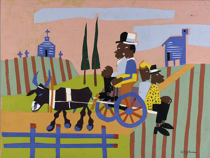 File:Going to Church, by William H. Johnson.jpg