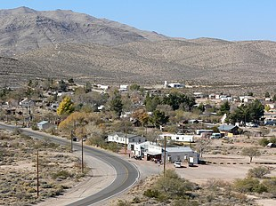 The town of Goodsprings, Nevada on November 26, 2006.