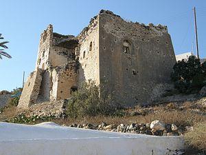 Emporio, Santorini - Goulas Castle.