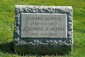 Josephine Hopper - Gravestone Edward and Josephine H., Oak Hill Cemetery Nyack