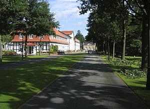 Einfahrt zum Gräflichen Park Bad Driburg (Kurpark)
