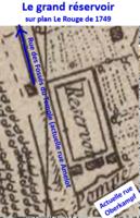 Grand réservoir sur plan Le Rouge de 1749.png