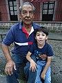 Grandfather with Grandson - Along Calzada Fray Antonio de San Miguel - Morelia - Michoacan - Mexico (20488202232).jpg
