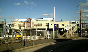 Granville railway station - Station front in February 2007