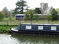Great Bedwyn - Canal, Church and Train - geograph.org.uk - 1469411.jpg