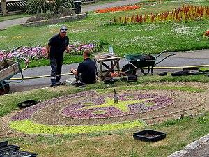 Greenhill Gardens, Weymouth - Image: Greenhill Gardens, Weymouth Clock
