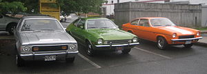 Ford Pinto - First-generation American sub compacts, left to right: AMC Gremlin, Ford Pinto, Chevrolet Vega