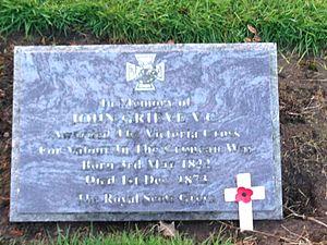 John Grieve (VC) - Gravestone of John Grieve VC in Inveresk Cemetery