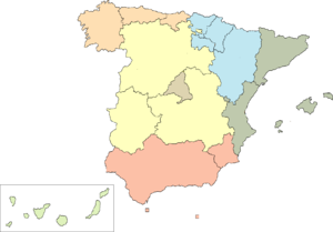 First-level NUTS of the European Union - Image: Groups of Spanish autonomous communities