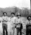 Grupp av män. Längst till höger hövdingen Yúna. Lokal, Missionsstn. Cavinas, nära Rio Beni, Bolivia - SMVK - 005018.tif