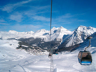 Arosa Lenzerheide Ski area in Switzerland