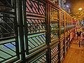 HK Wan Chai Road 灣仔道 night Basketball court Hennessy Road Dec-2013 iron gate fence.JPG