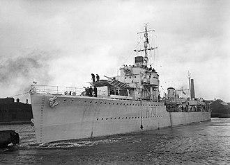 HMS Fortune (H70) - Image: HMS Fortune 1943 IWM FL 13249