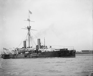Imperieuse-class cruiser - HMS Imperieuse in 1896 showing the later single central pole mast