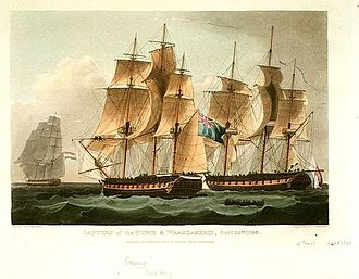 Action of 24 October 1798 - Image: HMS Sirius vs Furie, 1798