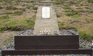 H. Jones - Memorial to H. Jones, outside Darwin settlement, marking the spot where he was killed.