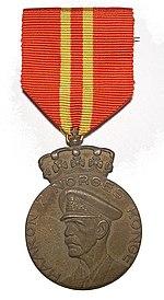 Haakon VIIs 70 års medalje