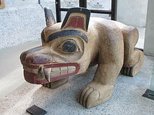 A sculpture titled Bear on display at the UBC Museum of Anthropology