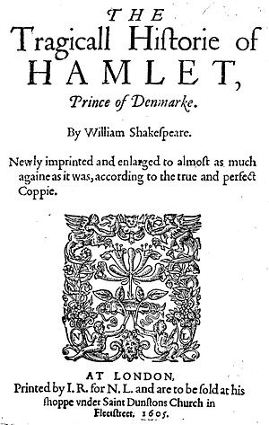 The third quarto of Hamlet (1605). A straight ...