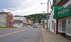 Walnut Street (West Virginia Route 3) in Hamlin in 2007