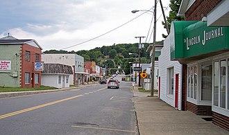 Hamlin, West Virginia - Walnut Street (West Virginia Route 3) in Hamlin in 2007