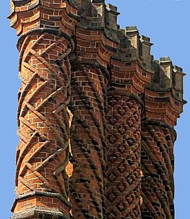 Brickwork Masonry produced by a bricklayer, using bricks and mortar