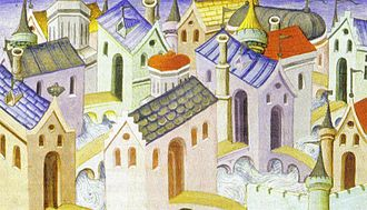 Hangzhou - Hangzhou depicted in a French illustration from 1412