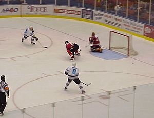 Springfield Falcons - Tavis Hansen and Daniel Briere score against Saint John