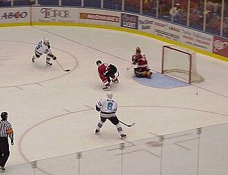 Springfield Falcons - Tavis Hansen and Daniel Briere score against Saint John