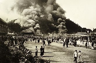 Happy Valley Racecourse - The 1918 fire at the racecourse