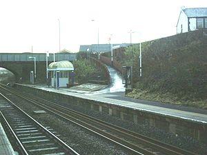 Hapton railway station - Image: Hapton 888