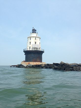 Sussex County, Delaware - Lighthouse off the coast of Lewes