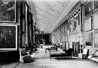 Long gallery - Hardwick Hall's long gallery in the 1890s