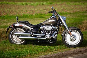 Cruiser motorcycle wikivisually softail harley davidson fat boy 2018 flfbs 114 ci fandeluxe Image collections