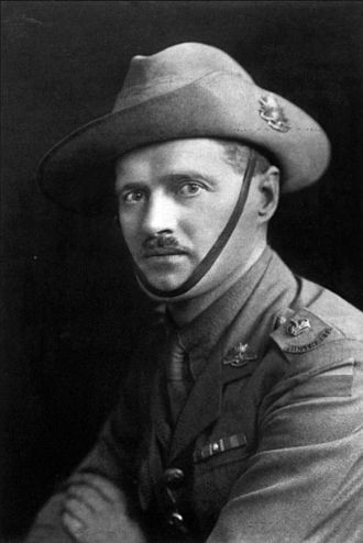 "13th Battalion (Australia) - Portrait of Australian World War I Victoria Cross recipient, Major Harry Murray. In February 1917, then-Captain Murray led 'A' company of the 13th Battalion in an attack on ""Stormy Trench"", capturing the position and defending it against three German counter-attacks."