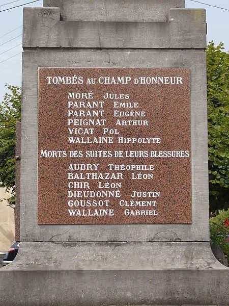 Haudiomont (Meuse) monument aux morts
