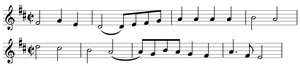 Symphony No. 104 (Haydn) - Opening theme of the main portion of the first movement