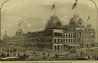 Gilded Age - Grand Central Depot in New York City, opened in 1871