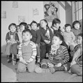 Heart Mountain Relocation Center, Heart Mountain, Wyoming. A nursery school group at the Heart Moun . . . - NARA - 539279.tif