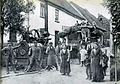 Heilbronn-Böckingen Hohlgasse erste Dampfdreschmaschine 1903-1906.jpg