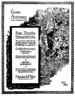 Henke & Pillot - Image: Henke Golden Anniv Brochure