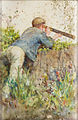 Henry Scott Tuke - Man looking through a telescope.jpg