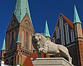 Henry the Lion Monument in front of the Dom. Schwerin, Germany.jpg